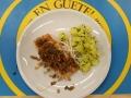 Lachsfiet mit Gemüsevinaigrette und Schnittlauchkartoffeln