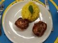 Brät-Muffins mit Safranrisotto und Fenchelgemüse